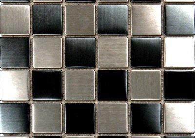SMOT-MET-BSL2X2 - Metal BlkSilver 2X2X8mm Matte