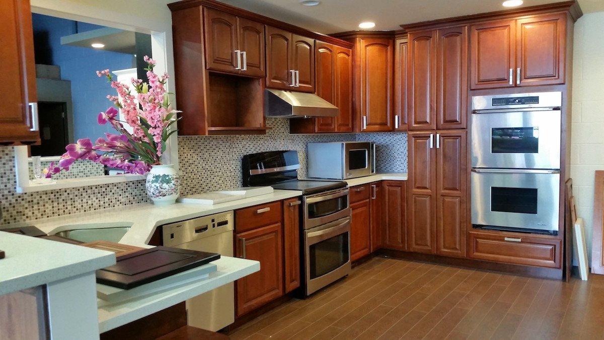 raised panel chocolate cabinet
