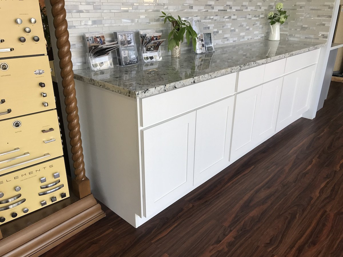 seattle showroom white cabinet