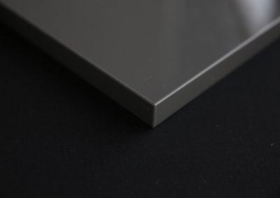Glossy Gray door edge