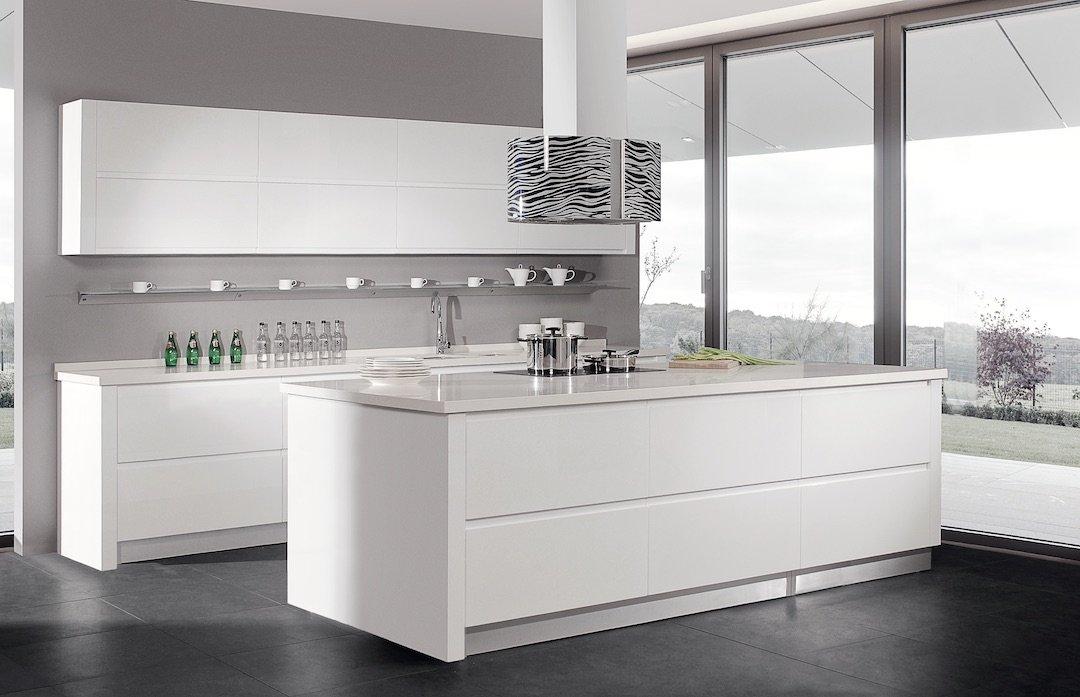 Lacquer White Kitchen Remodel