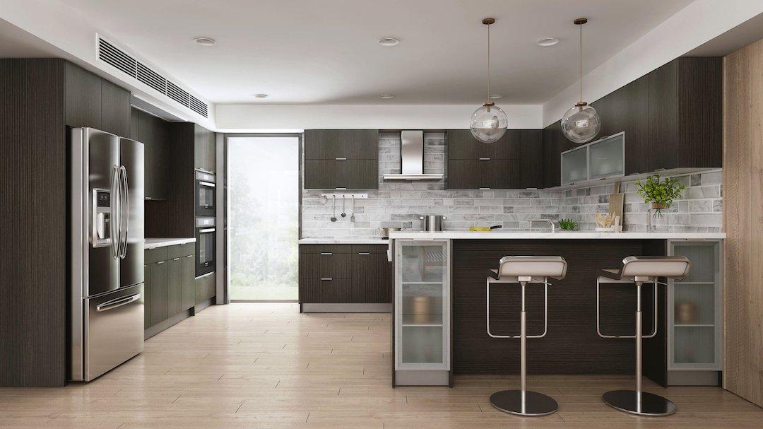 Oak Brown Kitchen Cabinets