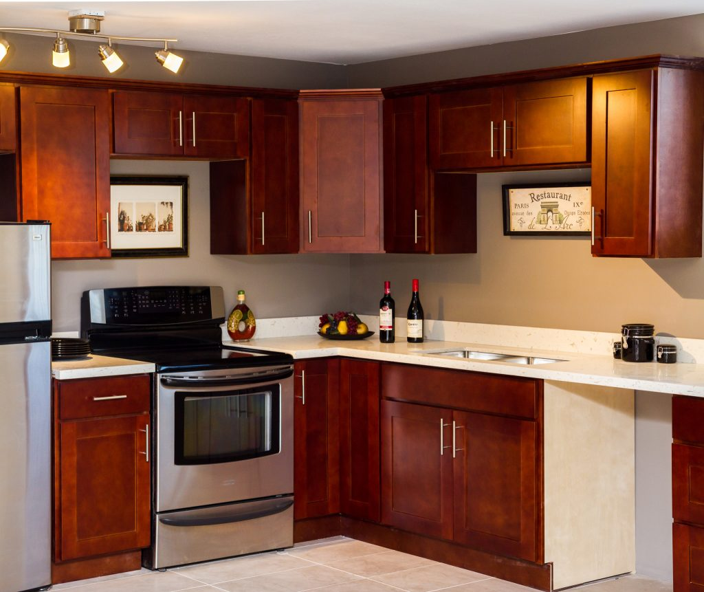 Kitchen Cabinets Seattle: Cherry Shaker - ABS Cabinets & Counters